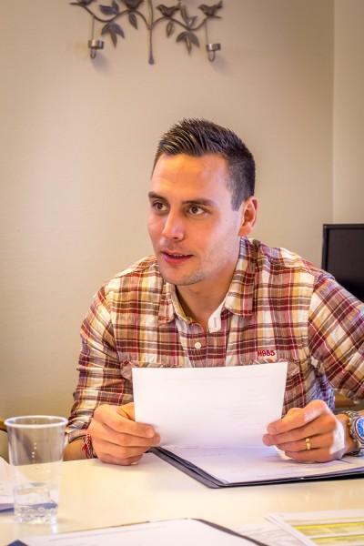 Kristoffer Johansson, projektledare.