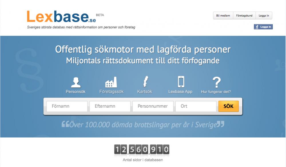 Lexbase – Den nya omtalade nättjänsten.