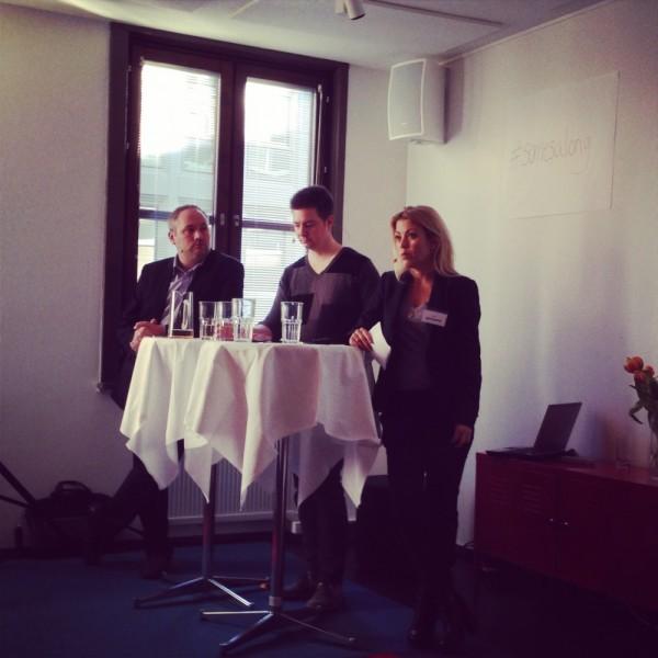 F.v. Johan Englund, Jonas Morian, Karin Bäcklund