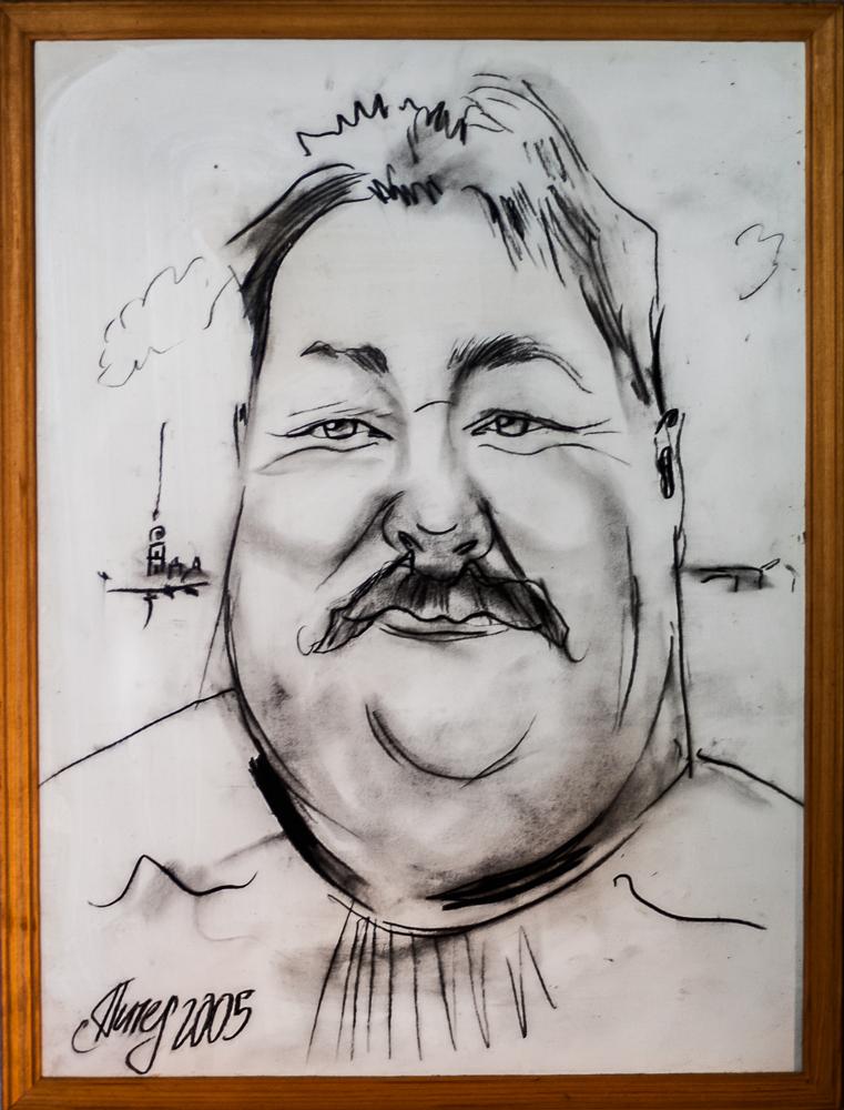 Detta är ett porträtt på Ronny som han själv tyckte väldigt mycket om. Den ville han att vi använde i intervju som vi gjorde med honom våren 2012.