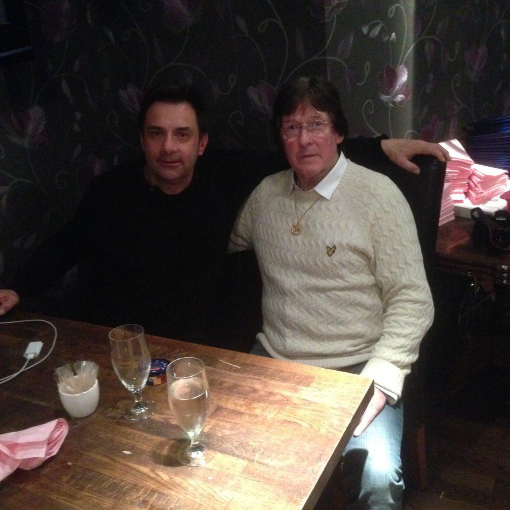 Jag och Leif Axmyr under middagen