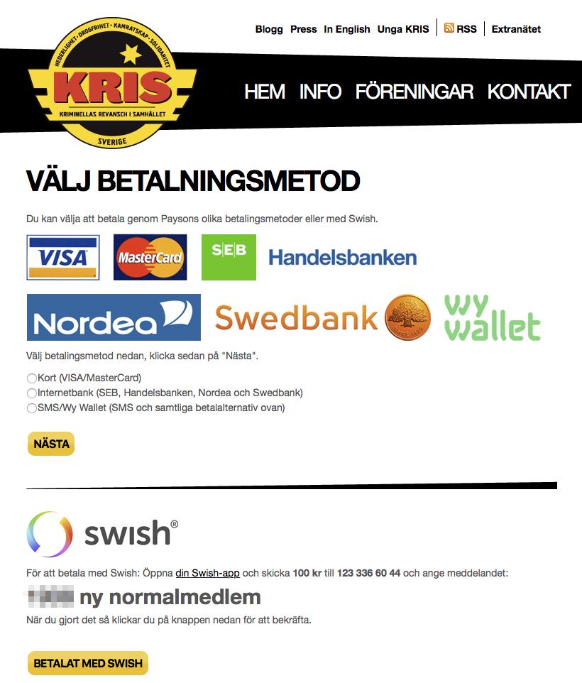swish-betalning
