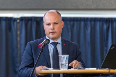 Morgan Johansson under invigningstalet på Sverige mot narkotika 2016 i Gavlerinken. Foto: Joakim Berndes