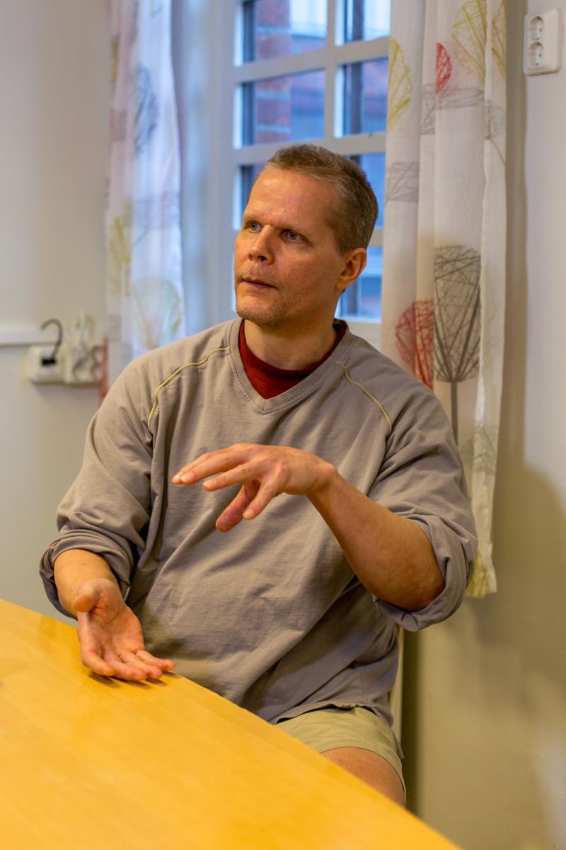 Kaj Linna inifrån Norrtälje anstalten. Foto: Joakim Berndes