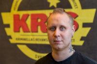 Fredrik Lundell, ordförande Unga KRIS Falkenberg. Foto: Joakim Berndes