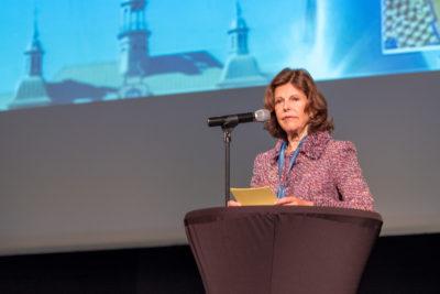 H.M Drottning Silvia öppnade konferensen på onsdagen. Foto: Joakim Berndes