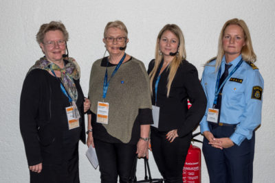 Leena Haraké, Margareta Nyström, Sara Woldu och Annika Ljung deltog i seminariet Kvinnor och missbruk - dubbelt förtryck.
